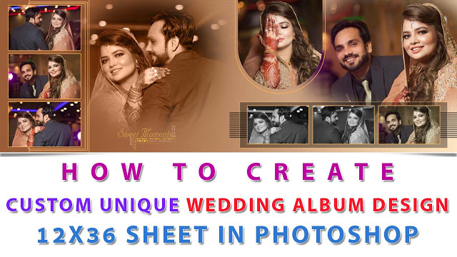 How To Make Wedding Album Design With Detail For Beginner