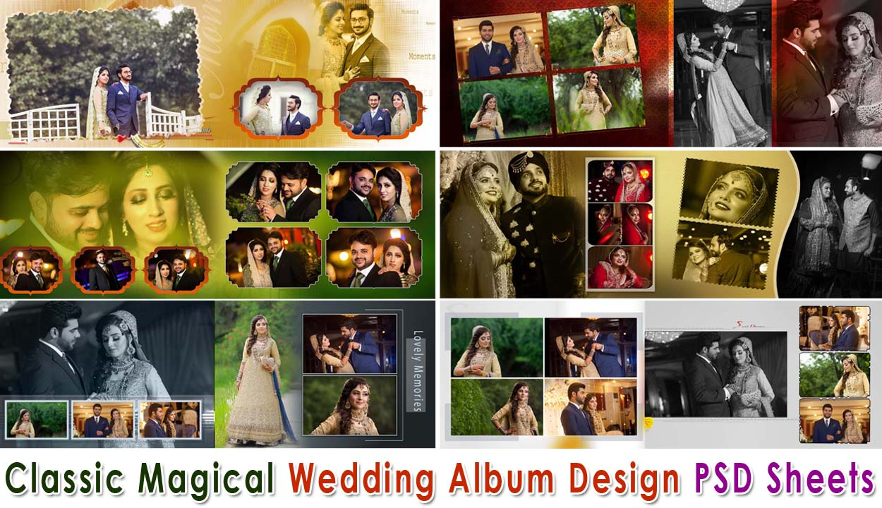 2020 Classic Magical Wedding Album Design Psd Sheets Studiopk