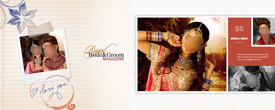 Indian Wedding & Engagement Album DM Sheets