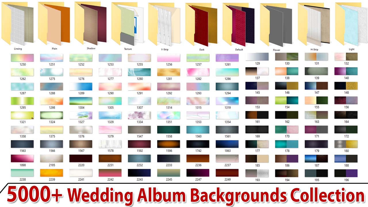 5000+ Wedding Album Backgrounds Collection
