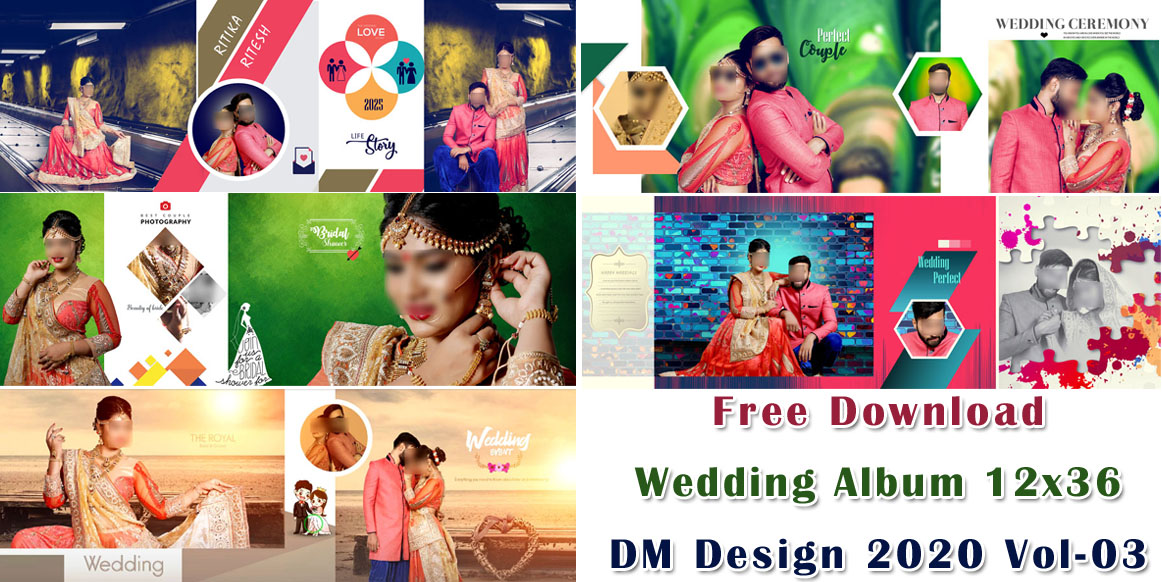 Free Download Wedding Album 12x36 DM Design 2020 Vol-03