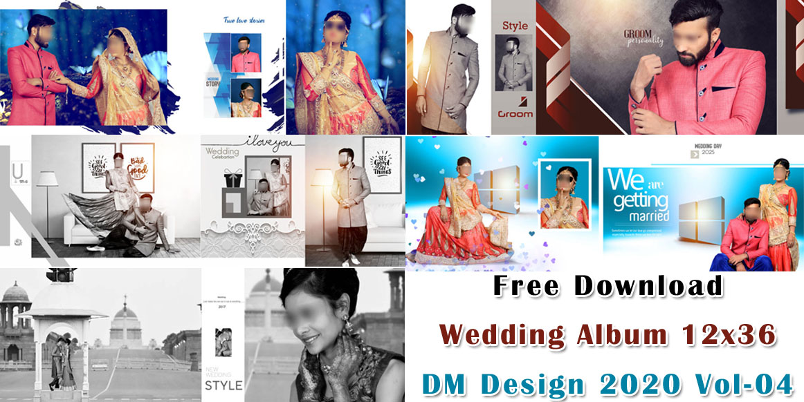 Free Download Wedding Album 12x36 DM Design 2020 Vol-04
