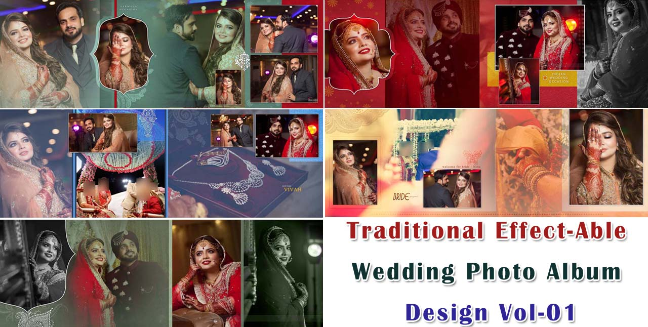 Traditional Effect-Able Wedding Photo Album Design Vol-01