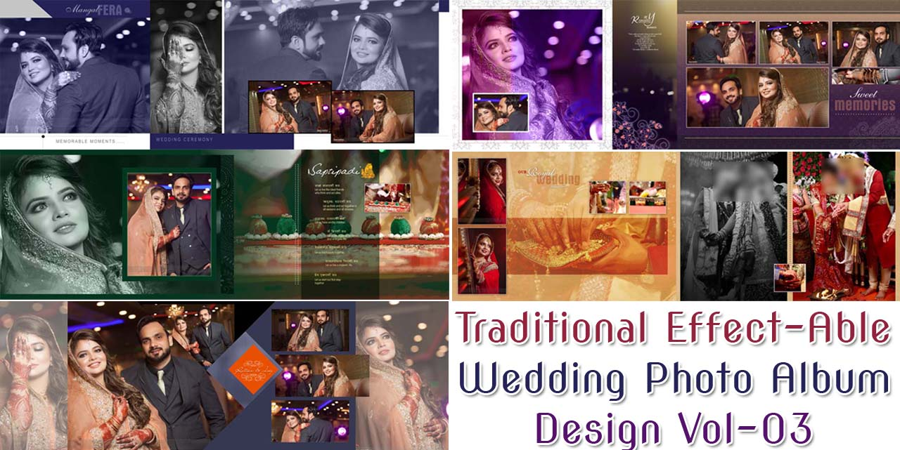 Traditional Effect-Able Wedding Photo Album Design Vol-03
