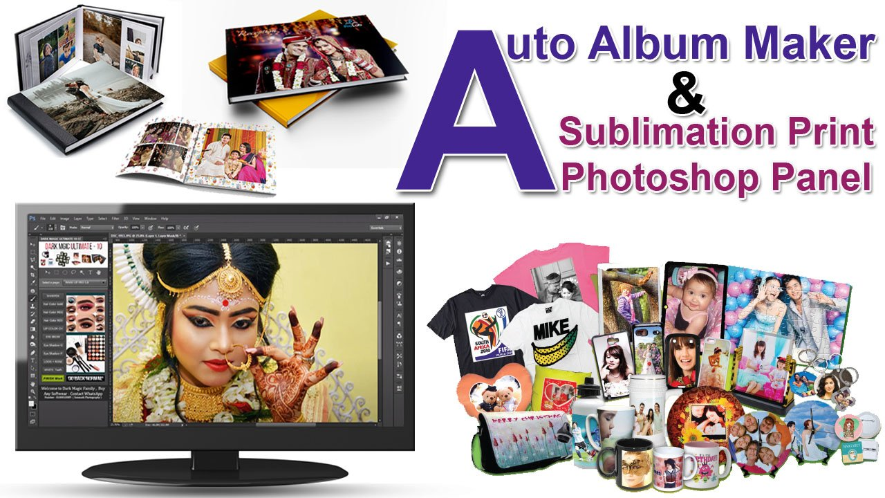 Auto Album Maker & Sublimation Print Photoshop Panel