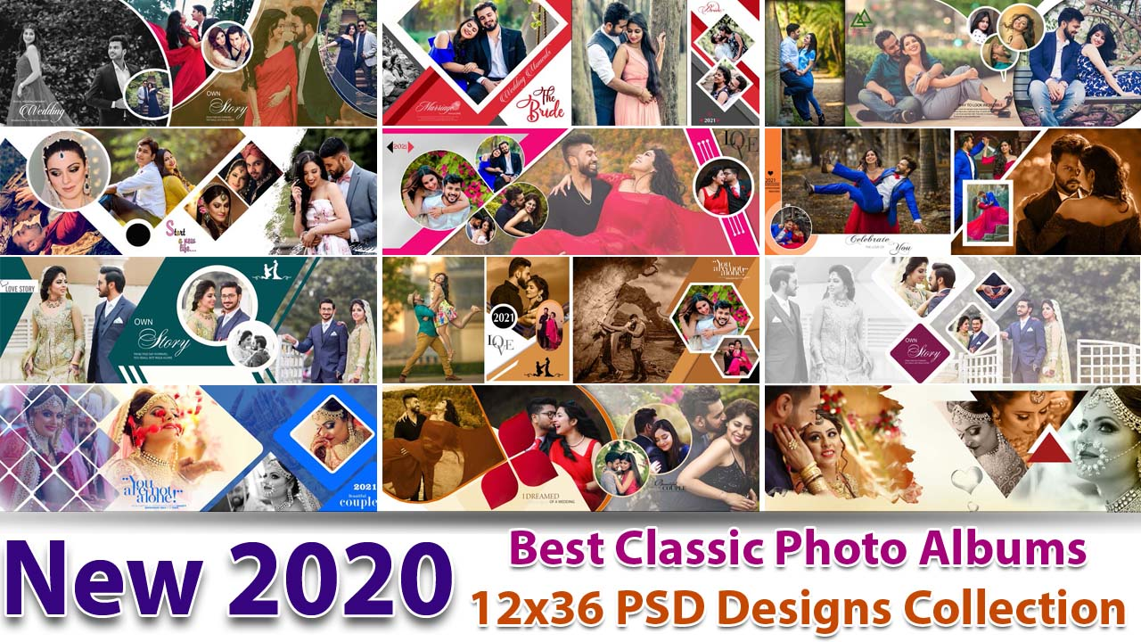 New 2020 Best Classic Photo Albums 12x36 PSD Designs Collection