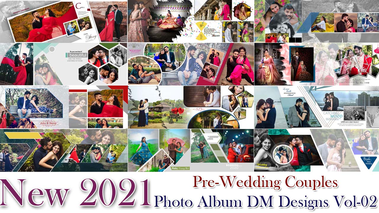 New 2021 Pre-Wedding Couples Photo Album DM Designs Vol-02