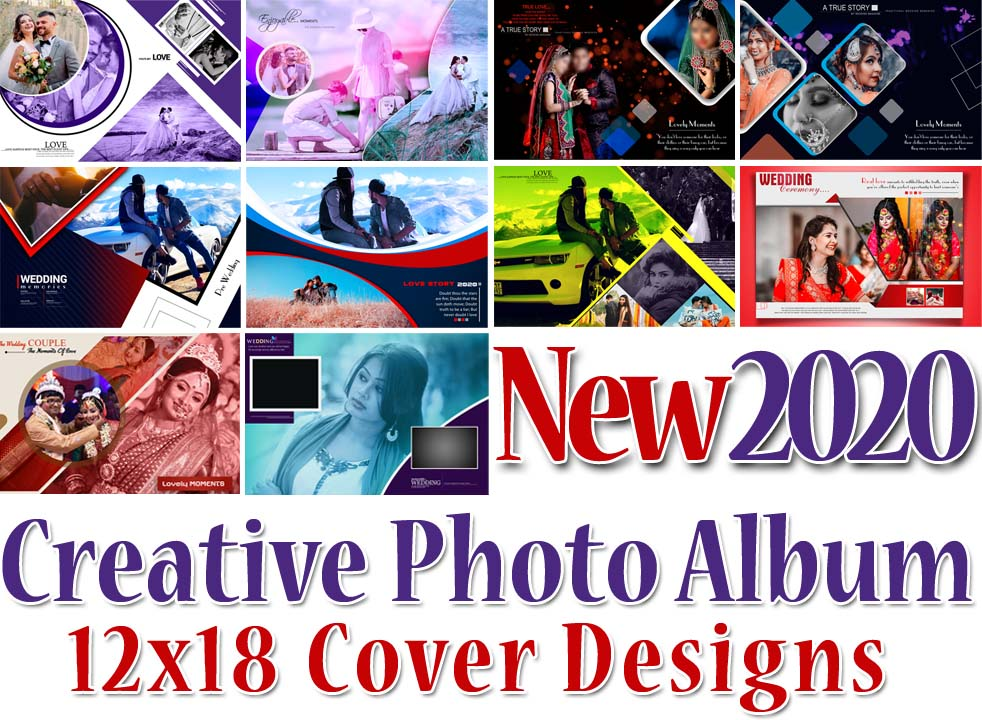 New 2020 Creative Photo Album 12x18 Cover Designs