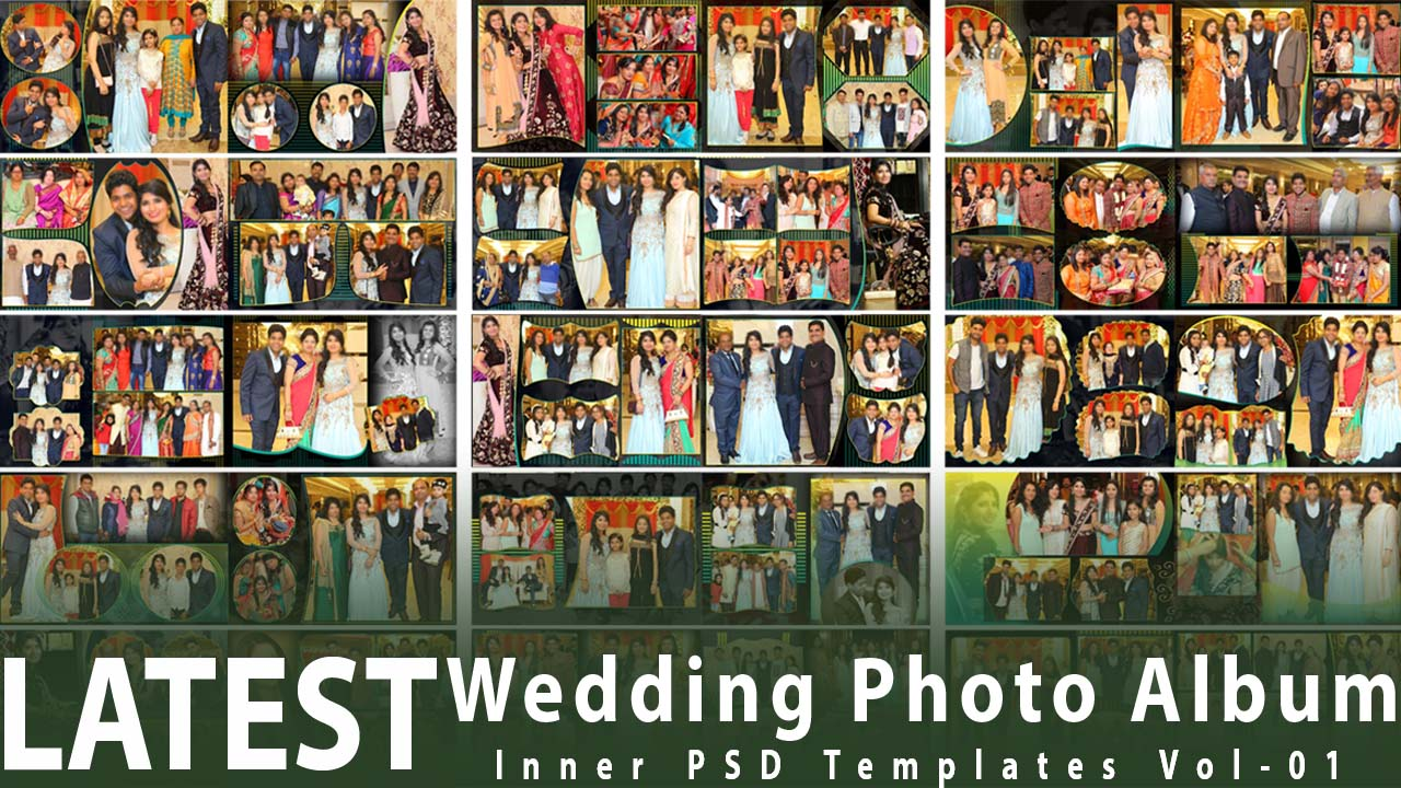 Latest Wedding Photo Album Inner PSD Templates-Vol-01