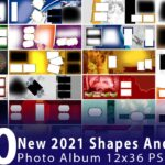 100 New 2021 Shapes And Feather Photo Album 12x36 PSD Designs