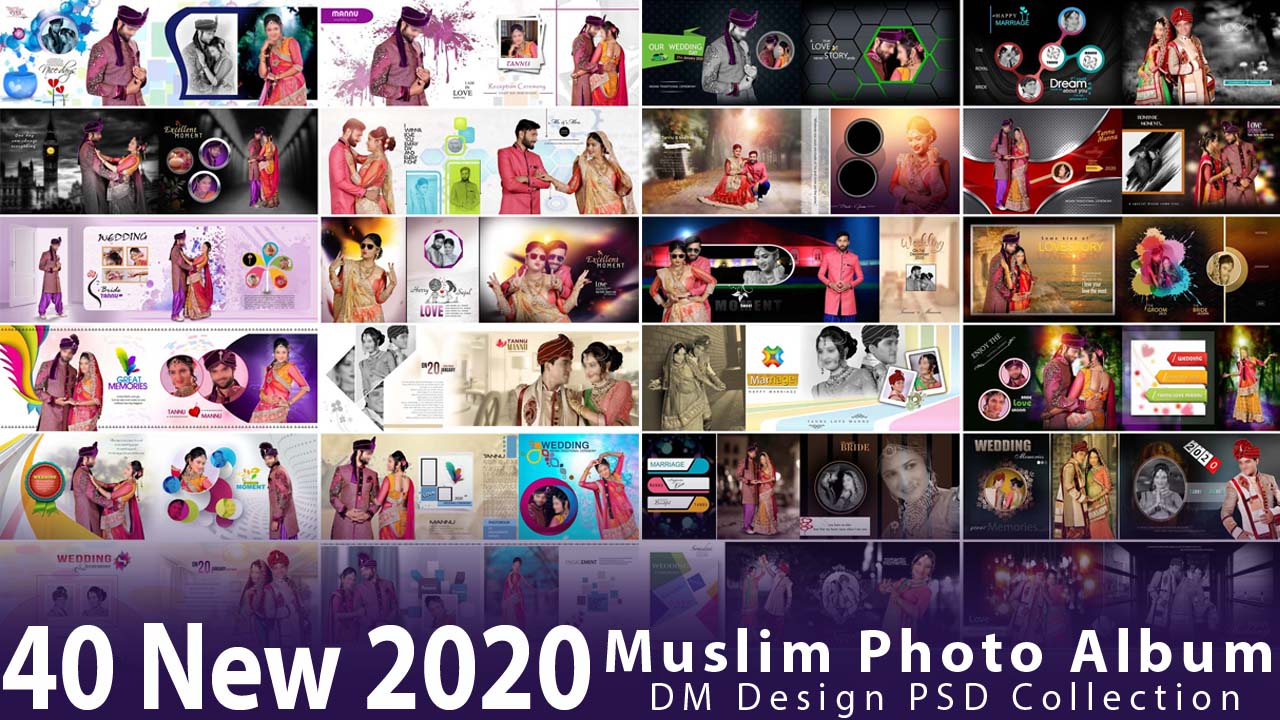 40 New 2020 Muslim Photo Album DM Design PSD Collection