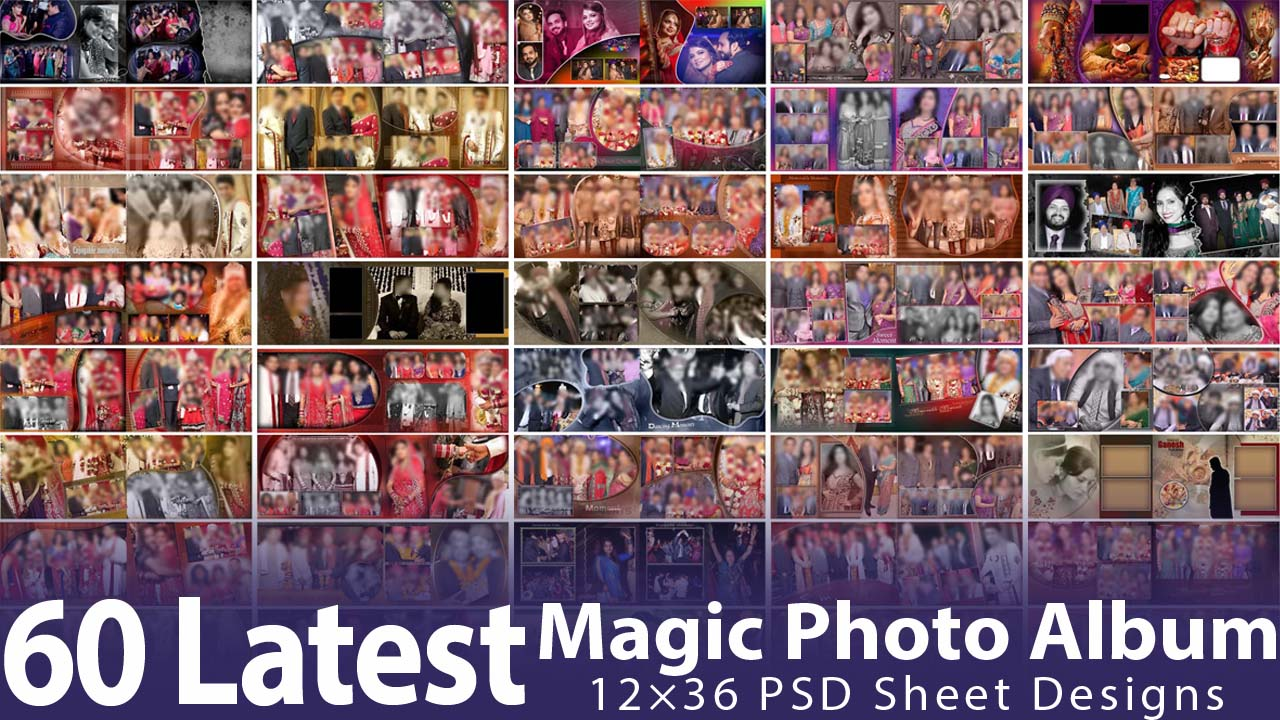 60 Latest Magic Photo Album 12×36 PSD Sheet Designs