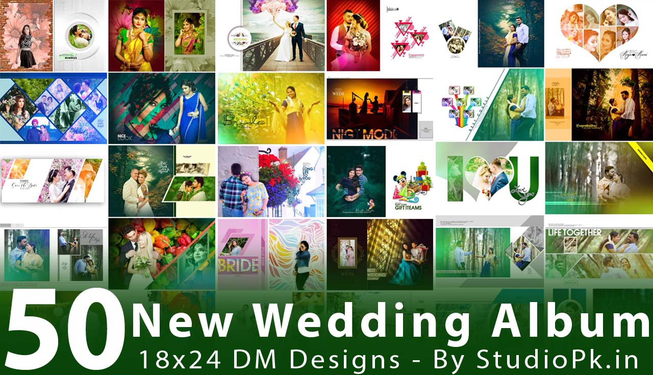 New Wedding Album 18x24 DM Designs